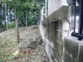 ブロック擁壁補強工事